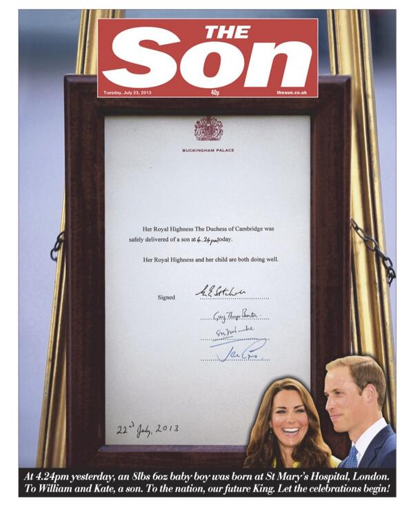 Pic: Metro Herald Easily Has The Funniest Royal Baby Front