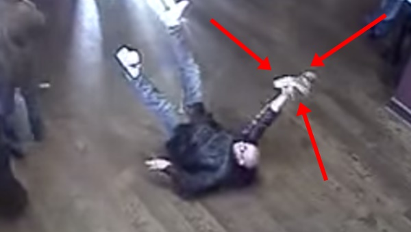 Video: This man hilariously falling over in a pub is like ... People Falling Over