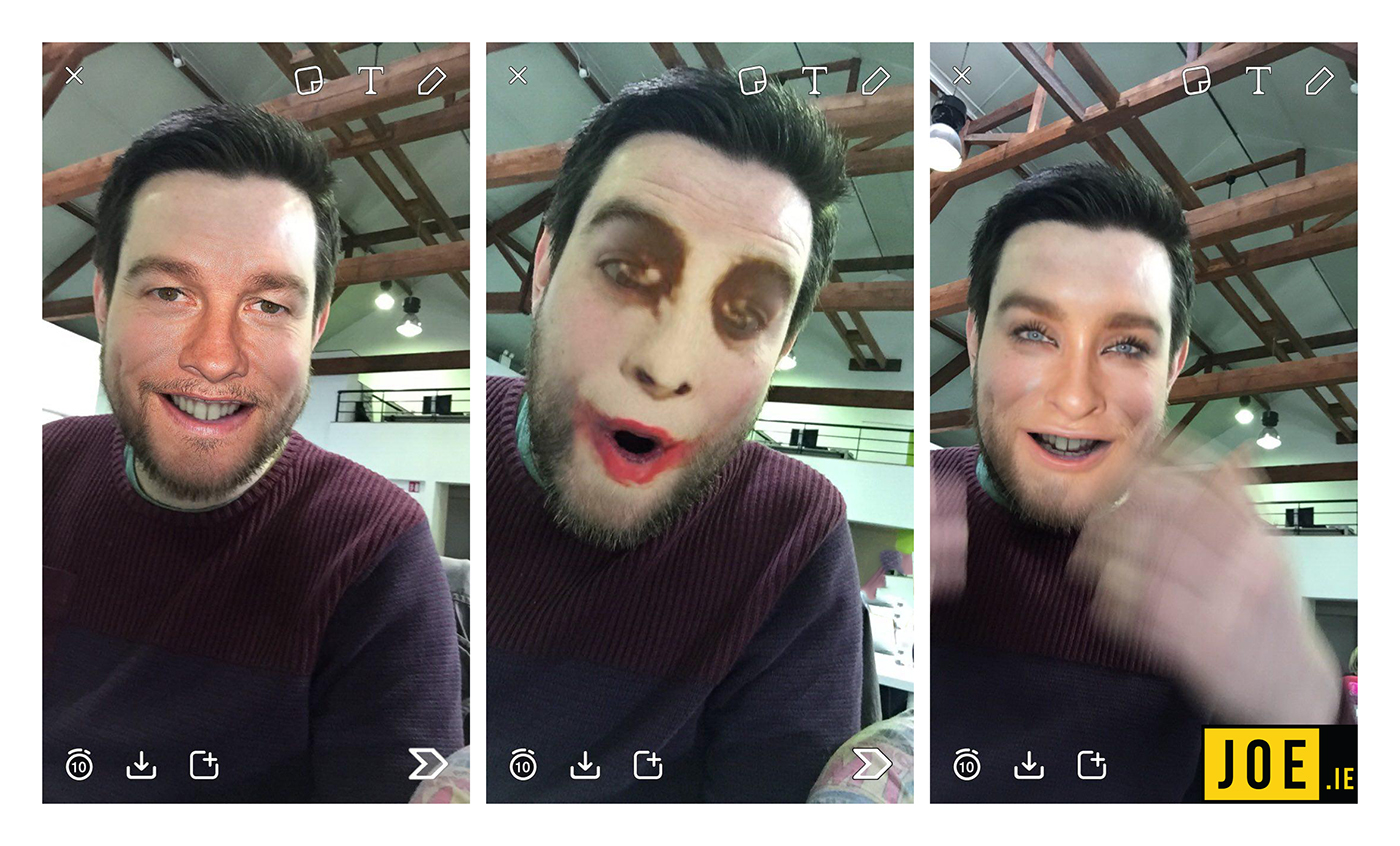 Users can swap faces with pictures on phone