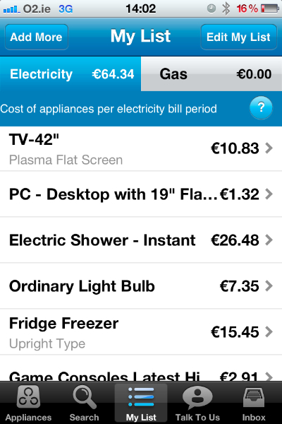 review electric ireland s appliance calculator app joe is the