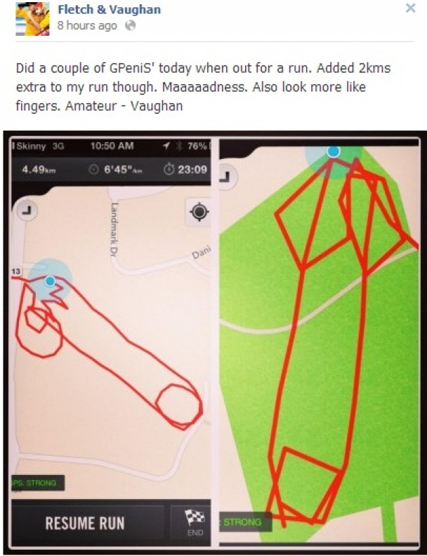 New Zealand DJs On Campaign To Map Out Penisshaped GPS Runs JOEie - How far did i run map