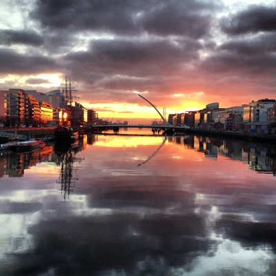 picture incredible shot of the sunrise over dublin this morning