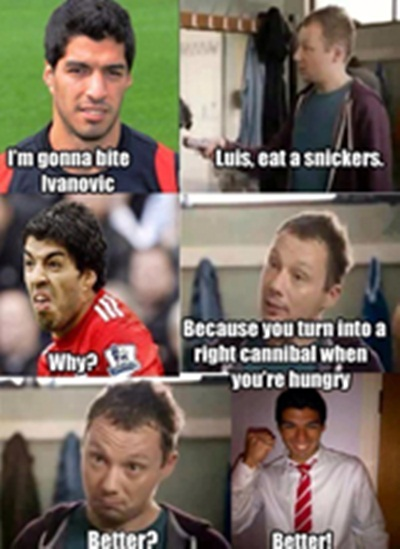 snickers youre not you when youre hungry luis suarez