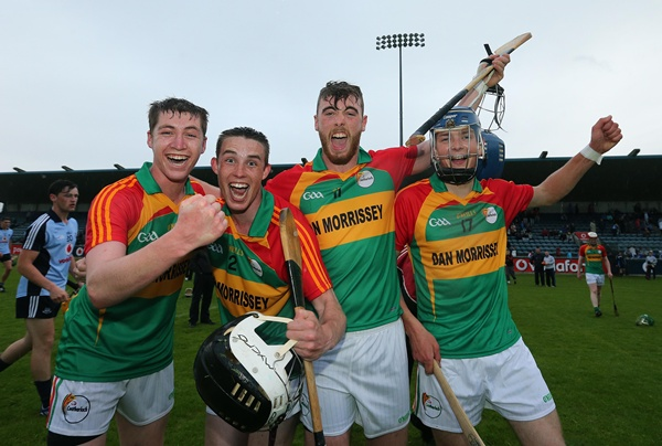Dion Wall ,David Galway, Darren Dalton and Laurence Kinsella celebrate at the final whistle 11/6/2013