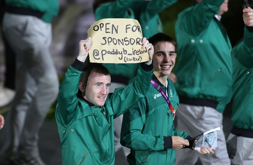 Boxer's Paddy Barnes and Michael Conlon 27/7/2012