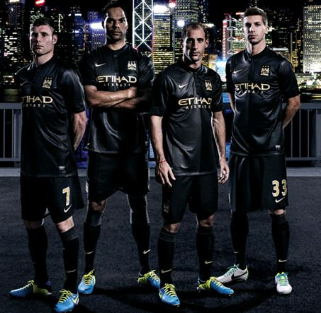 finest selection 53627 0ef38 Pic: Manchester City officially unveil slick new black away ...