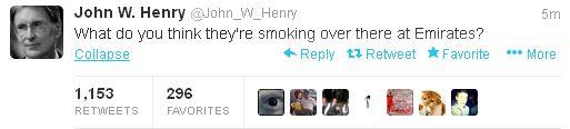 Henry tweet
