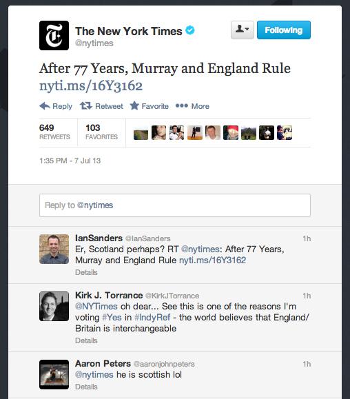 NY Times England
