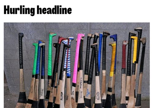 Hurling headline