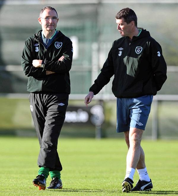 Martin O'Neill and Roy Keane 12/11/2013