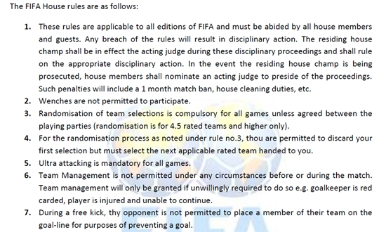 fifa 13 apology rules essay