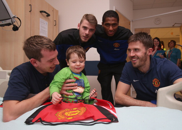 Manchester United FC Players Visit Local Hospital