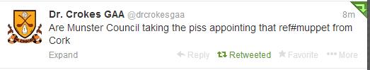 Crokes tweet