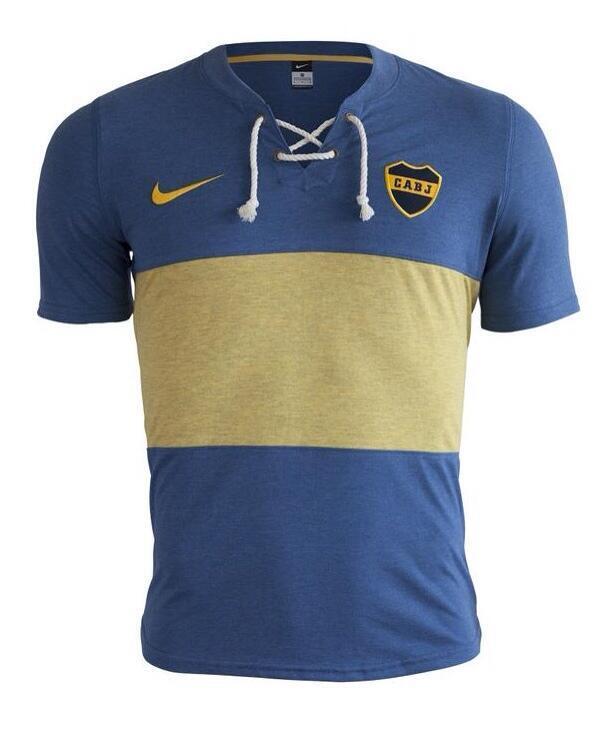 wholesale dealer b9e73 c9a9a Pic: The new retro Nike Boca Juniors kit is just gorgeous ...