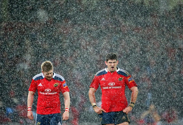 James Downey during a hail shower 27/12/2013
