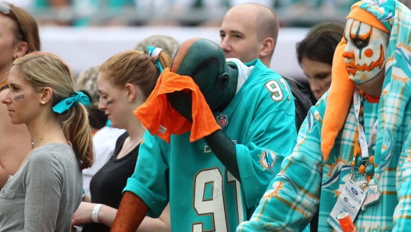Dolphin fan sad