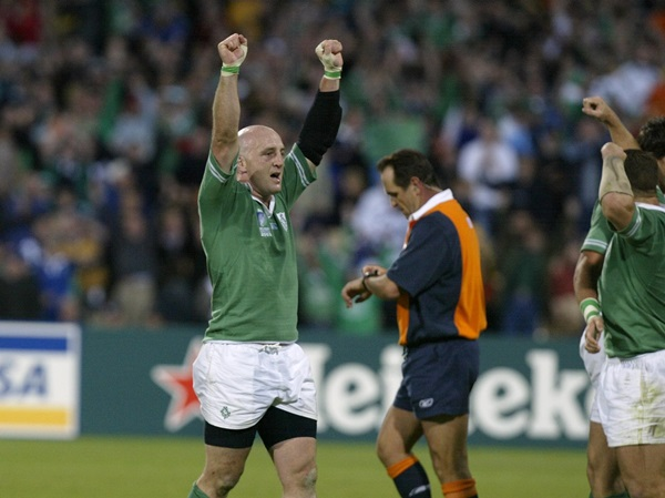 Keith Wood at the end of the match 26/10/2003