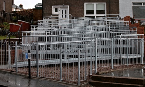Pic: Ridiculously complicated wheelchair access ramp in Scotland turns into skateboarderu0026#39;s ...