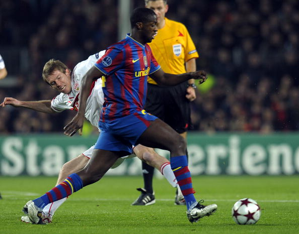 Barcelona's midfielder from Ivory Coast
