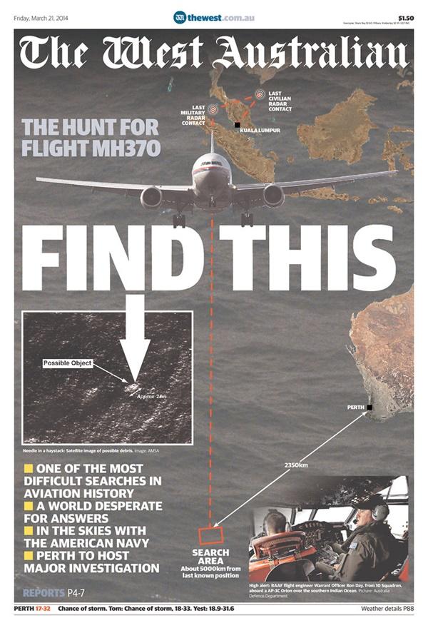 Flight australia front page