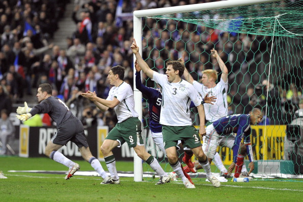 France wins the World Cup 2010 qualifying football match against Ireland  in Paris, France on November 18th , 2009.