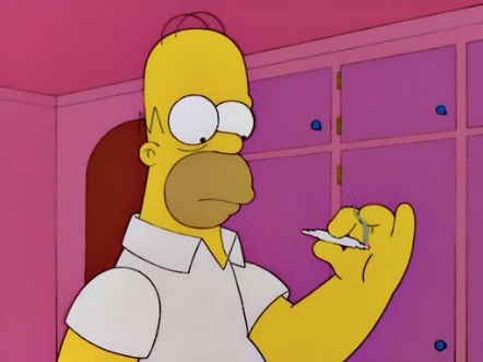 homer smoking