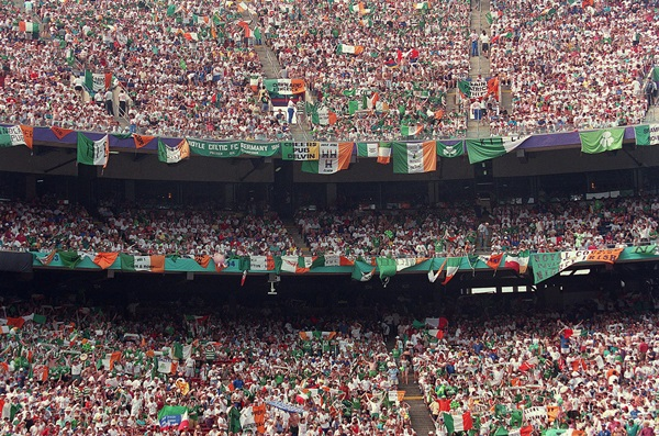 Irish fans before the game with Italy USA 1994