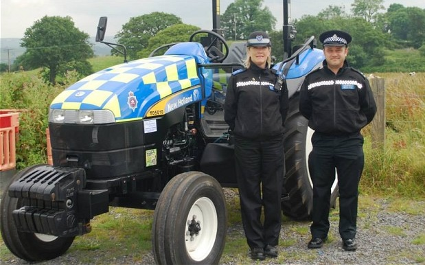 Welsh Police Tractor