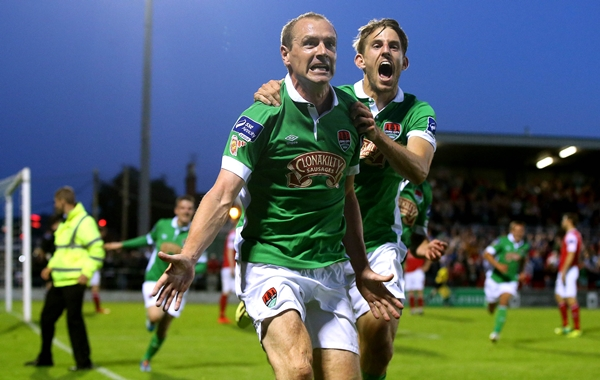 Colin Healy celebrates scoring his sides opening goal 8/8/2014