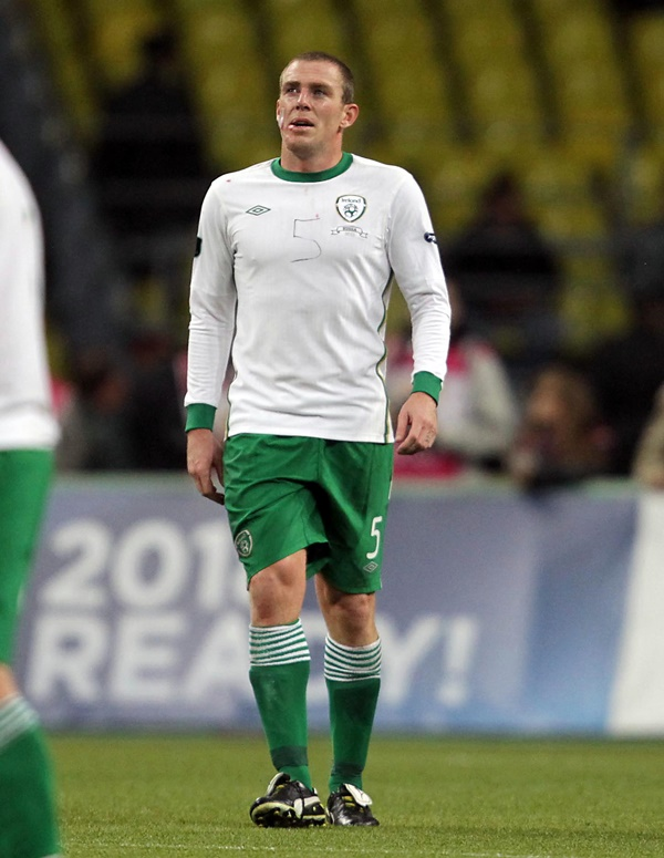 Richard Dunne with the number 5 written on his jersey 6/9/2011