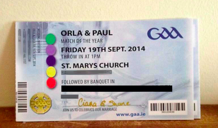 pic these gaa themed wedding invitations look absolutely class