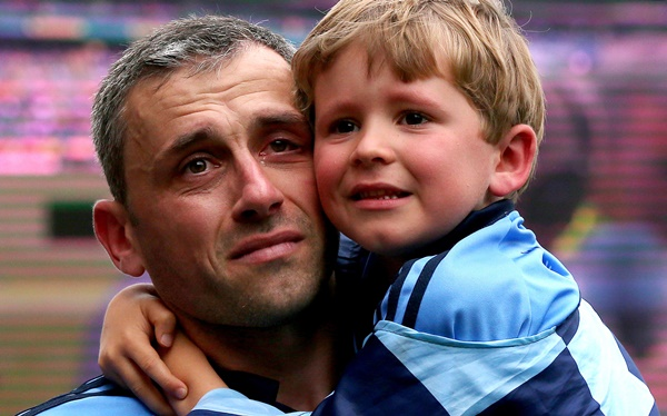 Alan Brogan with his son Jamie after the game 31/8/2014