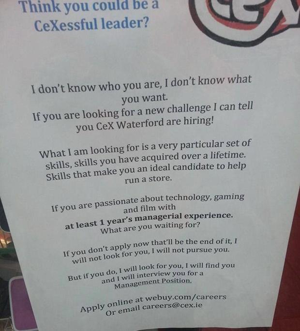 Taken Job Application