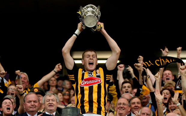 Lester Ryan lifts the Liam McCarthy Cup 27/9/2014