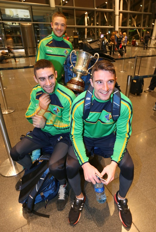 Ross Munnelly, James McCarthy and Aidan Walsh 12/11/2014