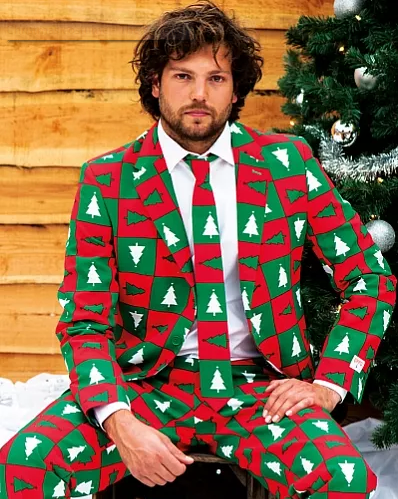 Pics Forget About Cheesy Christmas Jumpers Flamboyant Christmas Suits Are A Real Thing Now