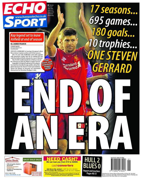 Liverpool Fc Transfer Gossip Reds Close In On Barcelona: Pic: There's A Brilliant Tribute To Steven Gerrard On The
