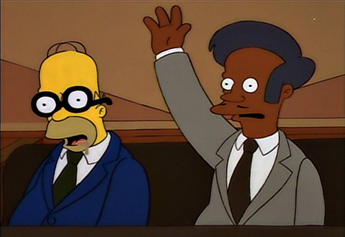 Home-SImpson-sleeping-in-the-jury-box-with-fake-glasses
