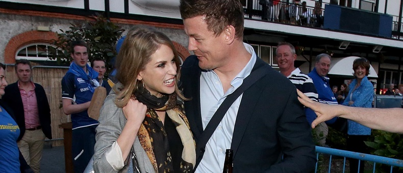 Brian O'Driscoll with his wife Amy Huberman 31/5/2014