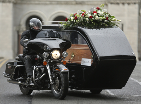 pic: irish bikers can now get the ultimate send off in a harley