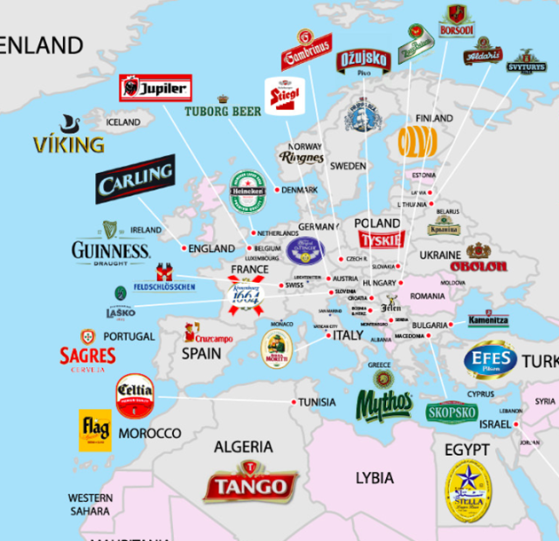 Pic: The most popular beer from every country in the world is all in this  cool infographic | JOE is the voice of Irish people at home and abroad