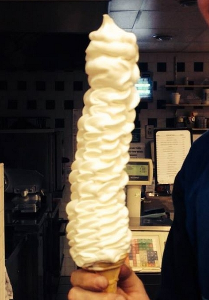Pic Jaysus This 99 Ice Cream Cone Thats Made By A Shop In Meath