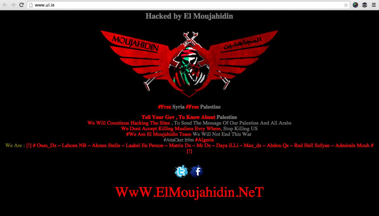 Pic: Looks like the University of Limerick's website has