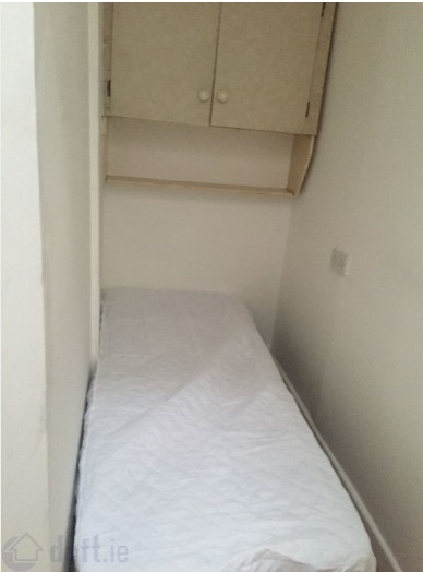 Smallest Bedrooms pic: surely this is the smallest bedroom available for rent in all