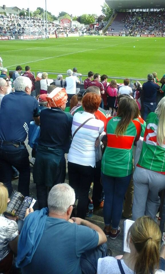 Pic  Meet the man that wore the Supermac s bag-hat to the Mayo v ... bfa77a6ac5a