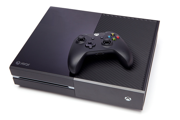 A Microsoft Xbox One video game console and wireless controller photographed on a white background, taken on September 12, 2013. (Photo by David Caudery/GamesMaster Magazine via Getty Images)
