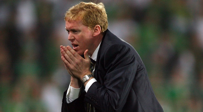 Euro 2008 Qualifier, 12/9/2007 Republic of Ireland Manager Steve Staunton reacts after Ireland came close to scoring in injury time Mandatory Credit ©INPHO/Cathal Noonan