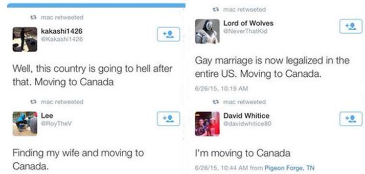 the americans moving to canada because of the supreme court ruling