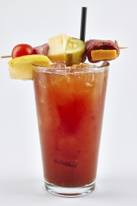 Bloody Mary on white Background