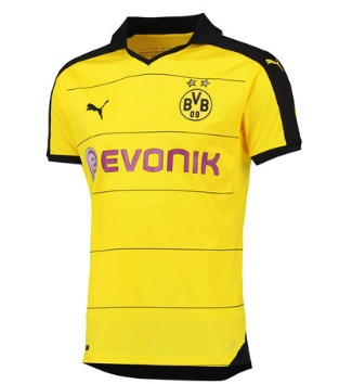 We love this simple retro design from Puma for the new Dortmund home jersey. af632b0ad